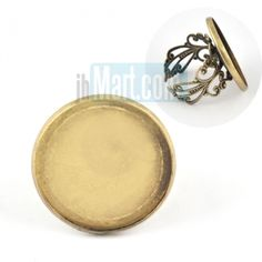 round bezel pad 23mm,vintage finger ring tray,adjustable filigree ring with base blank,ring base for resin glass cabochon,MOQ:25