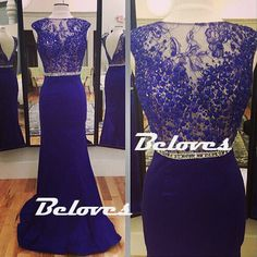 Purple Satin Formal Evening Gown With Beaded Sheer Lace Bodice