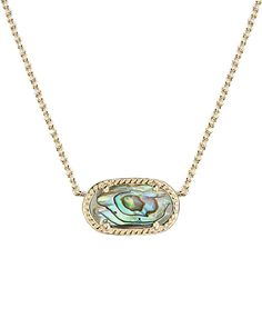 Elisa Pendant Necklace in Abalone Shell - Kendra Scott