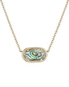 Elisa Pendant Necklace in Abalone Shell - Kendra Scott