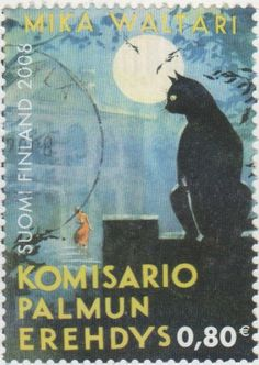 Suomi Finland 2008 stamp, an illustration to the Komisario Palmun erehdys novel by a famous Finnish writer Mika Mika Waltarin.
