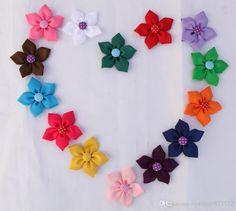 2.57cm Baby Diy Handmade Flowers Headbands Flat Back No Clips ...