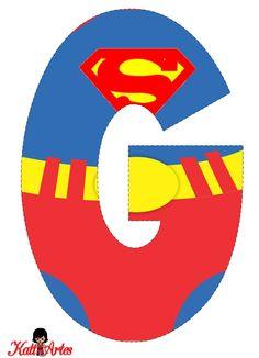 EUGENIA - KATIA ARTES - BLOG DE LETRAS PERSONALIZADAS E ALGUMAS COISINHAS: Alfabeto SUPER HOMEM 2