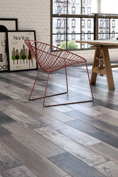 The mix-and-match look of the New England wood effect tiles gives them a rustic and realistic look Wood Effect Tiles, Wood Look Tile, Tiles London, Porcelain Tile, New England, Tile Floor, Woodworking, Ranges, House Design