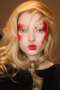 Backstage at Vivienne Westwood #AW1516 Red Label