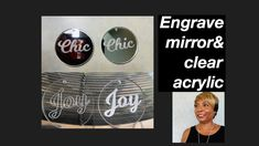 How To Engrave Mirror&Clear Acrylic #28 - YouTube Diy Jewelry Videos, Handcrafted Gifts, Gravure, Clear Acrylic, Youtube, Mirror, Kid Craft Gifts, Handmade Gifts, Craft Gifts