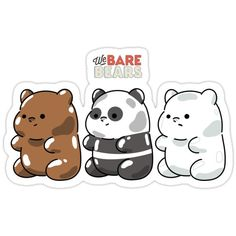 Official We Bare Bears fan art featuring your favorite characters. Vinyl Sticker Paper, Vinyl Decals, Printable Stickers, Cute Stickers, We Bare Bears Wallpapers, Homemade Stickers, Bear Wallpaper, Bear Cartoon, Gummy Bears