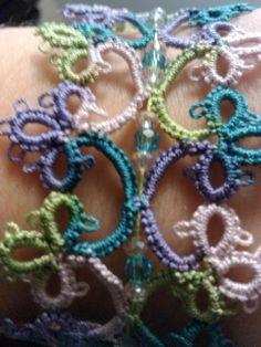 tatting lace bracelet beads