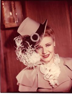 Ginger Rogers in a rare color photograph Magnificent Doll