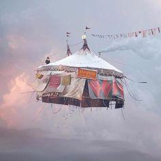 le photographe Laurent Chéhère a continué sa série Flying Houses. // Flying Houses Part II – Fubiz™