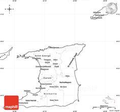 Trinidad And Tobago Map Outline. Tobago Google Search With ...