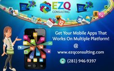 Classic and Trending Mobile Application Development in Houston - We are a specialized firm focusing on mobile application development which runs on all platform's and now a days we are dealing everything with our smart phones and apps want to build your own app? Then call us at (281) 946-9397 or visit us at http://www.ezqconsulting.com
