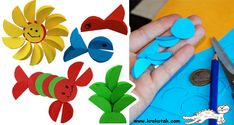 Good Craft using just circles...Using larger circles would work better with younger kids.