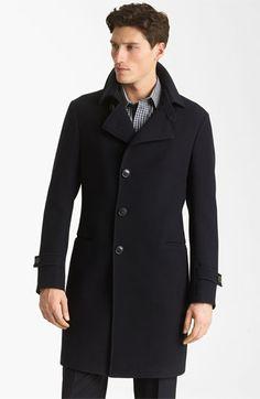 Gorgeous men's Armani Collezioni Twill Top Coat