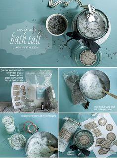 19 Great DIY Ideas for Homemade Cosmetics- Lavender bath salts