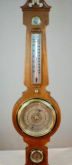 1970s Vintage Springfield Talking Barometer Weather Station