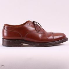 Brown Leather Brogues / Mens Oxford Shoes / $44.00