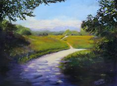 """Fort Langley Trail"", Oil on canvas, unframed (edges painted), 24"" X 18"", SOLD"
