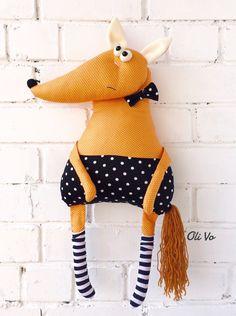 Купить Лис - лиса, лисенок, лисичка, лисица, текстильная игрушка, fox, textile…