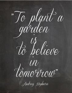 to plant...