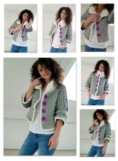 Fancy jacket. Easy crochet tutorial. You will find step by step instructions and video tutorial just to help you make this cool jacket