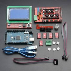LCD12864 RAMPS 1.4 Board 2560 R3 Control Board A4988 Driver Kit For 3D Printer - US$41.50