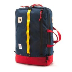 Topo Designs Travel Bag (Navy/Red)