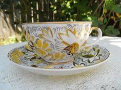 Lomonosov Tea cup and Saucer Gold Chamomile by DimitrijNigodoff