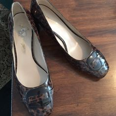 Leopard pumps Franco Sarto pumps  size 10. Worn only a few times.  Can't wear now due to weight loss and they don't fit. Franco Sarto Shoes Heels