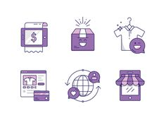 Dribbble - Retail icons by Kenny Schipper