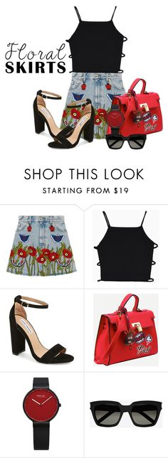"""""""Untitled #310"""" by tasa92 ❤ liked on Polyvore featuring Gucci, Steve Madden and Yves Saint Laurent"""