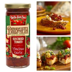 Bella Sun Luci Bruschetta makes entertaining easy! Made with Extra Virgin Olive Oil, what isn't there to love!? #bellasunluci #bruschetta #Italy #italian #guests #entertain #appetizer #recipe #food #photography #yum