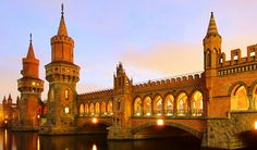 Oberbaumbrücke in Berlin, connecting the districts of Kreuzberg and Friedrichshain Man, why is everything prettier in Germany. Hotel Berlin, Berlin City, Berlin Wall, Berlin Berlin, Germania Berlin, Berlin Travel, Germany Travel, Belle Villa, Eurotrip