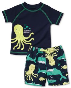 Carter's Baby Set, Baby Boys Two-Piece Rash Guard and Swim Trunks - Kids Shop All Baby - Macy's