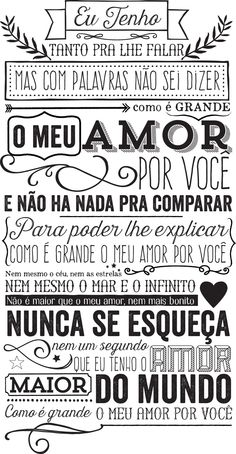 <3 pra vc meu amor! Cute Inspirational Quotes, Positive Phrases, Music Clips, Lettering Tutorial, Fathers Day Cards, Poster Wall, Wisdom Quotes, Texts, Verses