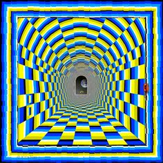 Tunnel Vision - a motion illusion by Kaia Nao. As you look down the tunnel, it appears to be moving.