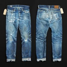 What s the oldest pair of jeans in your rotation  2 years and 10 washes on  these shredded Momotaro jeans. 92d0a854cf