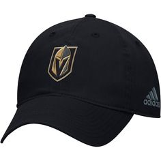 d8742732ac2 Vegas Golden Knights adidas Core Adjustable Hat - Black Vegas Golden  Knights Hat