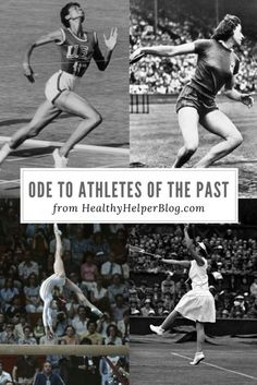 Ode to Athletes of the Past | Healthy Helper @Healthy_Helper Athletes and fitness enthusiasts are more than what they post on social media. Look beyond the pictures, tweets, and posts, back to a time when exercise and sports were done for pure passion as opposed to praise and constant validation!