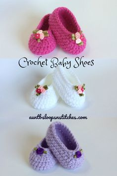 These sweet little crochet slippers are one of my favorite things to make for new Moms! (Think last minute baby shower gift.) And, this is a great beginner crochet project! (Something other than potholders & scarves!) It's also a fun, unique yarn s Crochet Baby Boots, Crochet Baby Sandals, Booties Crochet, Crochet Baby Clothes, Crochet Shoes, Crochet Slippers, Baby Booties, Crotchet Baby Shoes, Knitted Baby