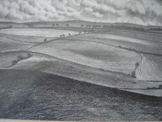 Sketch of the South Downs near Firle