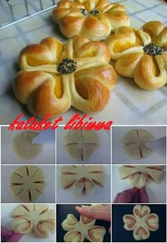 56 Gorgeous from Each Other of Homemade Pastries, Easy Food Decorations - Delicious Food Kids Pastry Recipes, Bread Recipes, Dessert Recipes, Cooking Recipes, Pastry Design, Bread Shaping, Bread Art, Homemade Pastries, Bread And Pastries