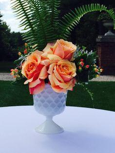 Wedding centerpiece  Orange