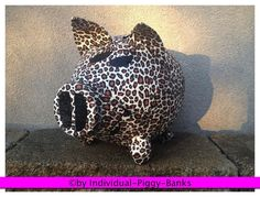 Sparschwein XXL Leoparden Look Geldgeschenk Briefbox Kartenbox LEOPARD