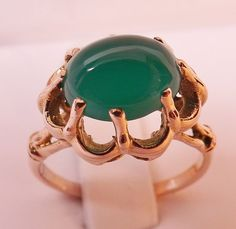 http://www.ebay.com/itm/MINT-VINTAGE-14K-ROSE-GOLD-CABOCHON-GREEN-CHRYSOPHASE-COCKTAIL-RING-Size-5-1-2-/370714711281?hash=item56505194f1