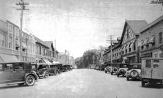 The shopping district was bustling in the 1920s on Great Neck Road, in what is now called Great Neck Plaza. Credit: Handout