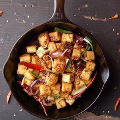 Fiery Garlic Tofu (Vegan)