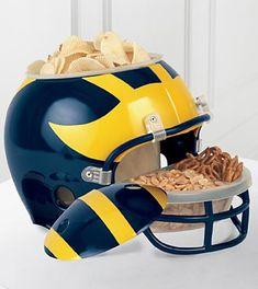 Want it! University of Michigan™ Wolverines™ Football Snack Helmet  #goblue #makingmehungry