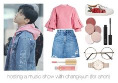 Music show with changkyun by emilizybeth on Polyvore featuring polyvore, fashion, style, TIBI, Nobody Denim, ROSEFIELD, LunatiCK Cosmetic Labs, ZOEVA and clothing