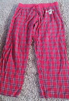 345643787a Women s Sideline Apparel Red Plaid Wisconsin Badgers Pajama Bottom Pants  Size XL by Juwannashop Wisconsin Badgers